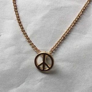 Small dainty peace necklace